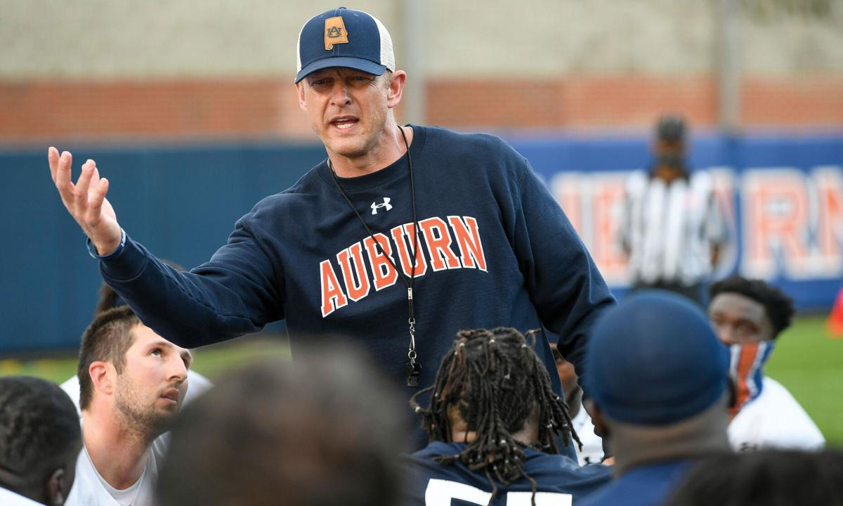 AU FB 1st day of spring practice