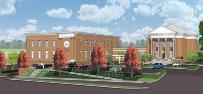 Rendering of courthouse annex
