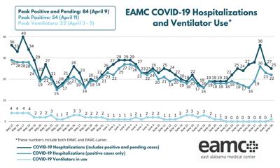EAMC Covid-19 graph