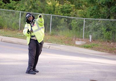Crossing guard Kiiesha Tolbert