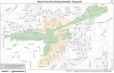 Short-term Non-Primary Rentals Map