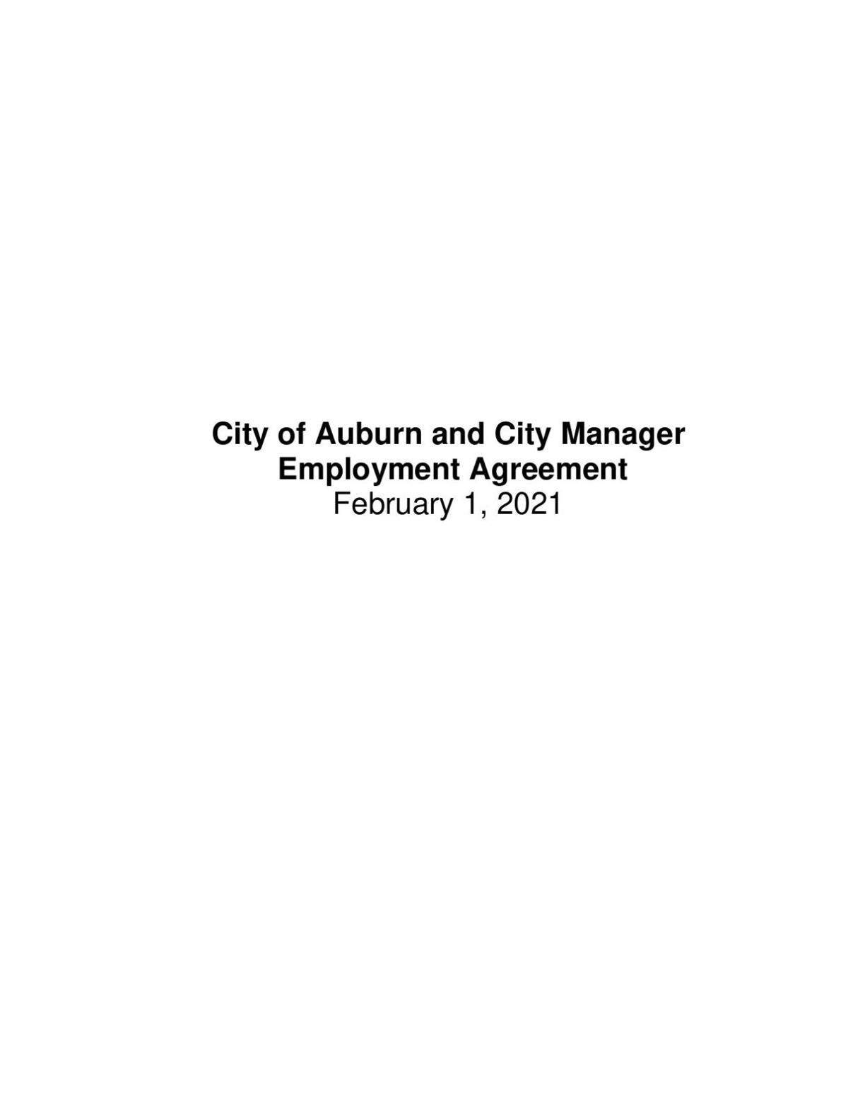 City Manager Contract