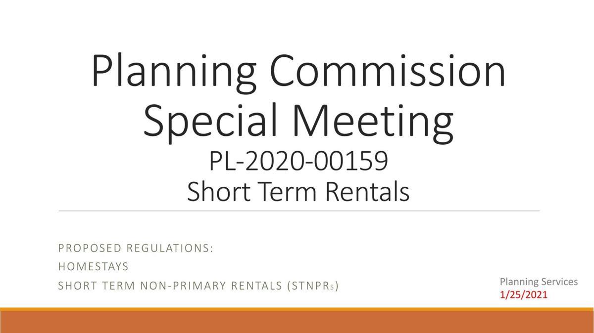 Short-term rental presentation