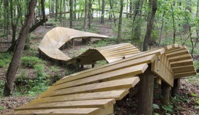 New bike ramp in Chewacla State Park