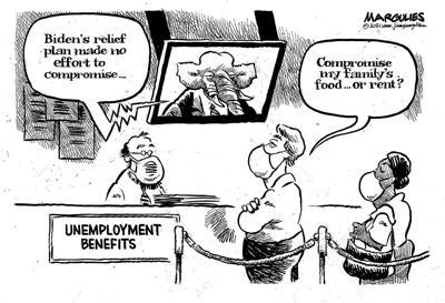 Editorial cartoon, March 15, 2021