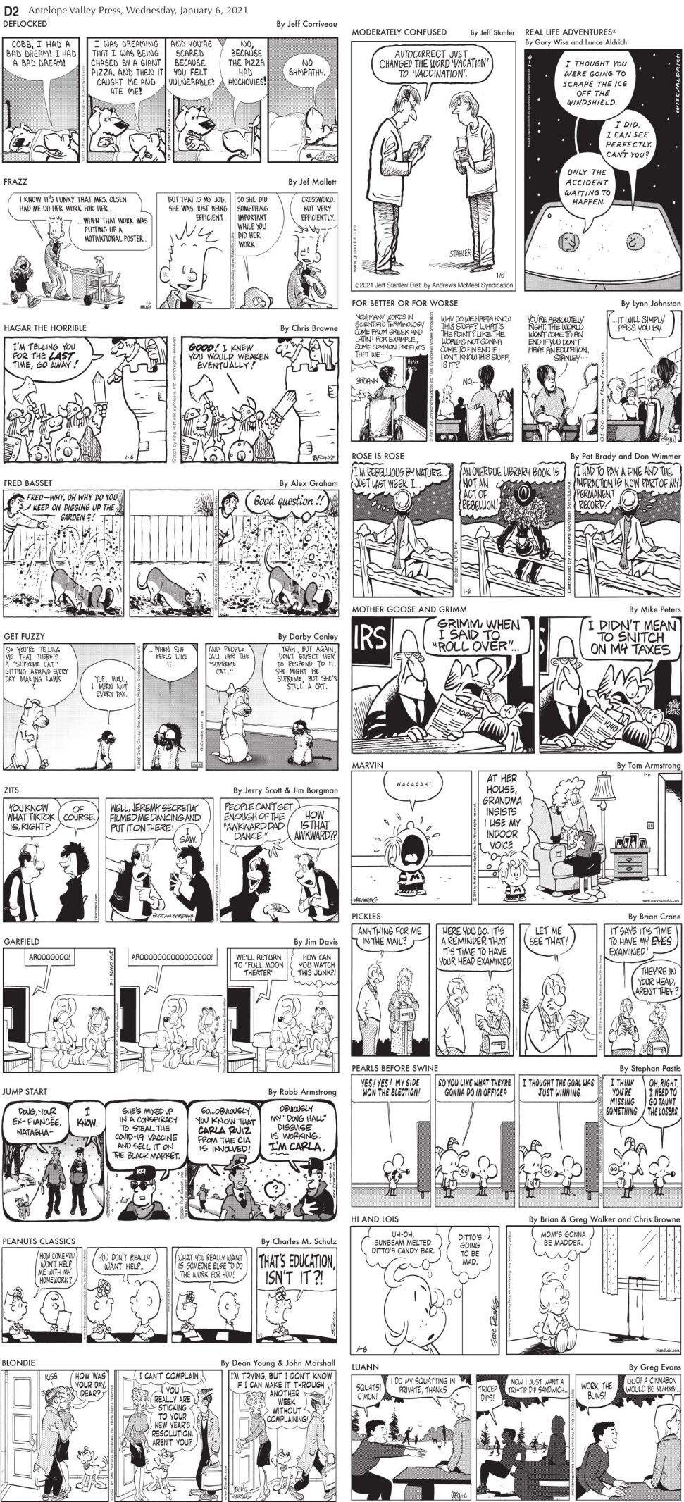 Comics, Jan. 6, 2020