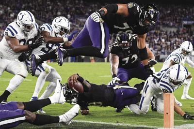 APTOPIX Colts Ravens Football
