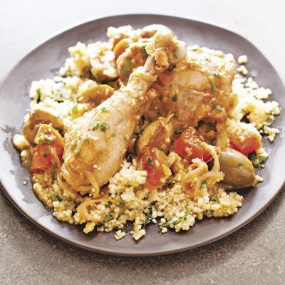 Food Column ATK Chicken Tagine with Olives and Lemon