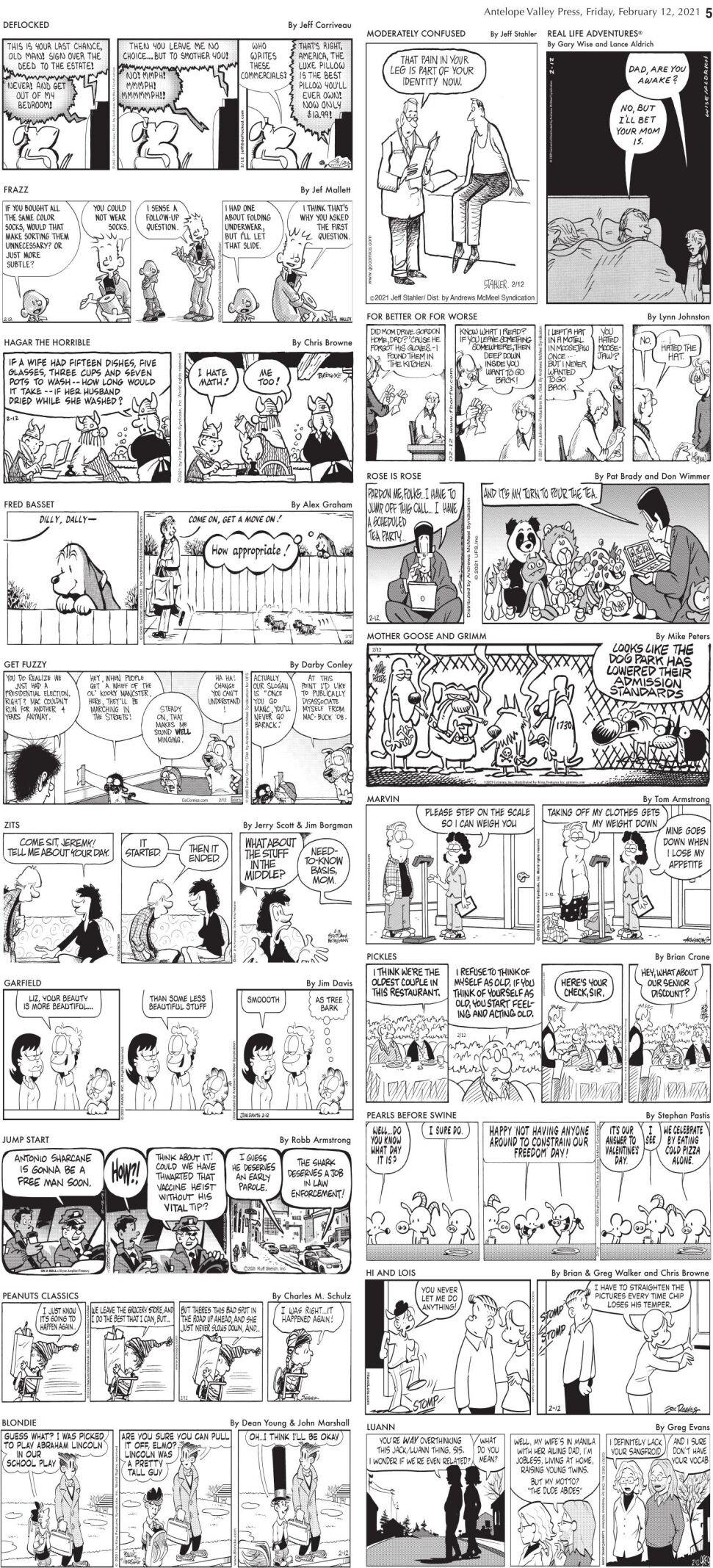 Comics, Feb. 12, 2021