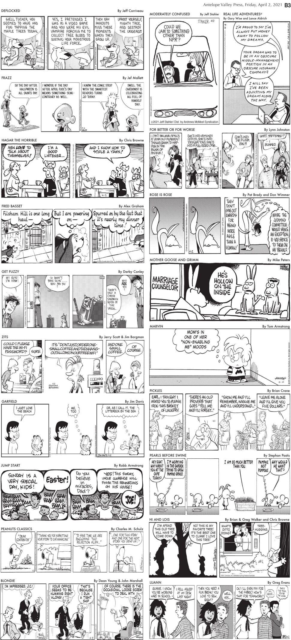 Comics, April 2, 2021