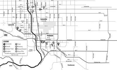 Crime map, April 8, 2021