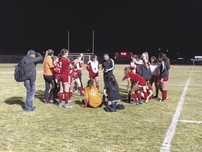 Rosamond  girls soccer coach Eddie Corletto