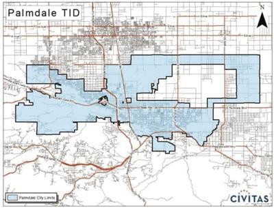 Palmdale TID map