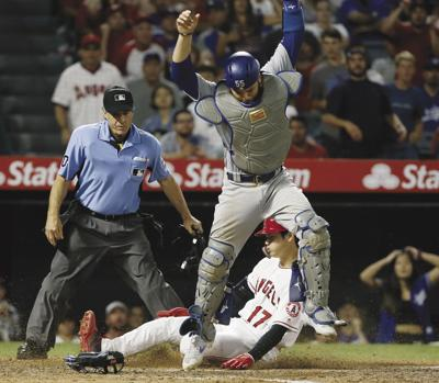 APTOPIX Dodgers Angels Baseball