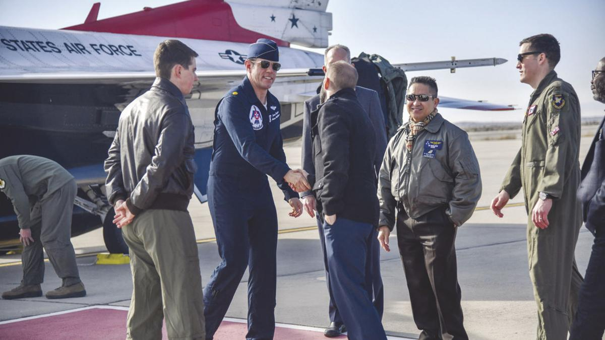 US Air Force – Maj Jason Markzon, Thunderbird 8 Advance Pilot