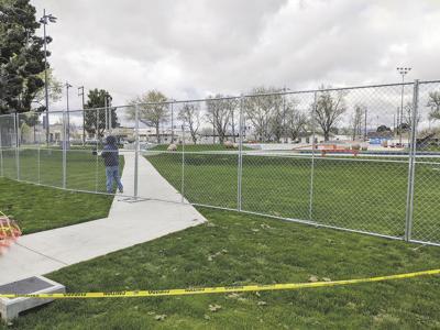 Skatepark fence