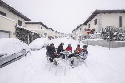 APTOPIX Spain Storm Filomena