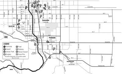 May 23, 2020, crime map