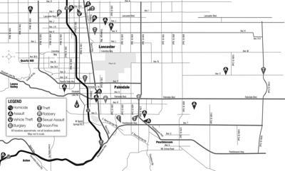 Crime map, Sept. 25, 2020