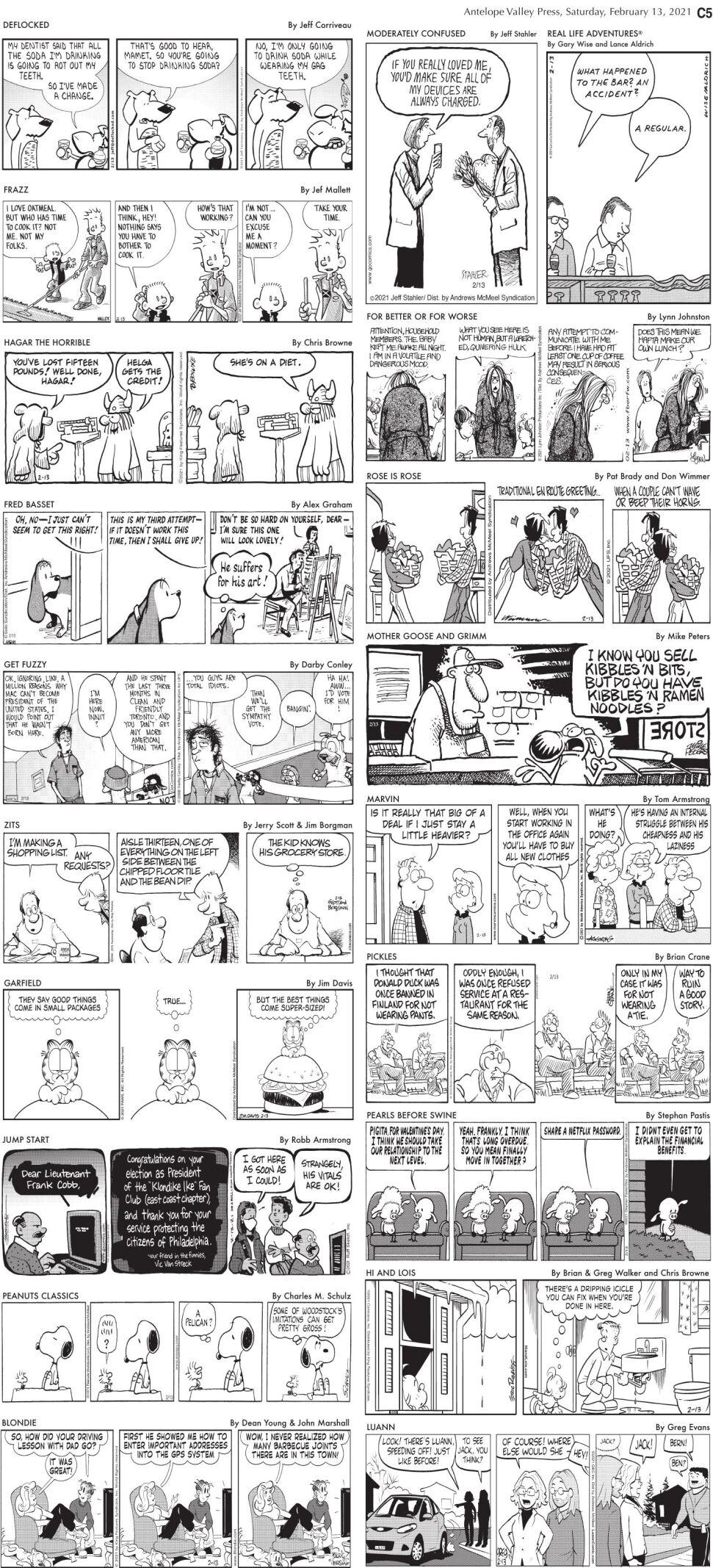 Comics, Feb. 13, 2021