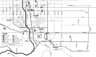 Crime map, Jan. 14, 2021