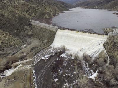 Dam water