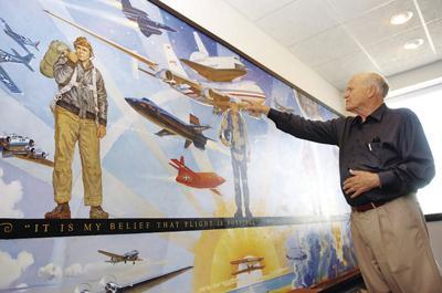 Famous aviation artist Robert McCall