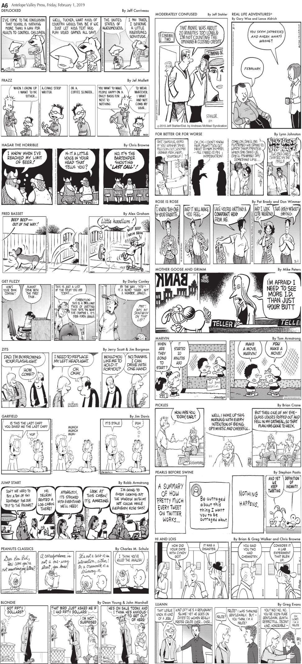 Feb. 1, 2019 Comics