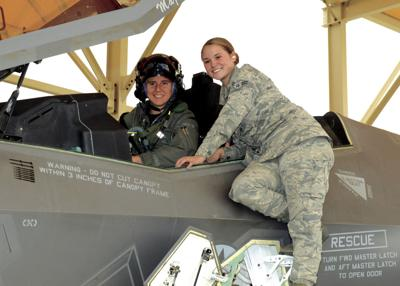 Test pilot breaks gender barrier