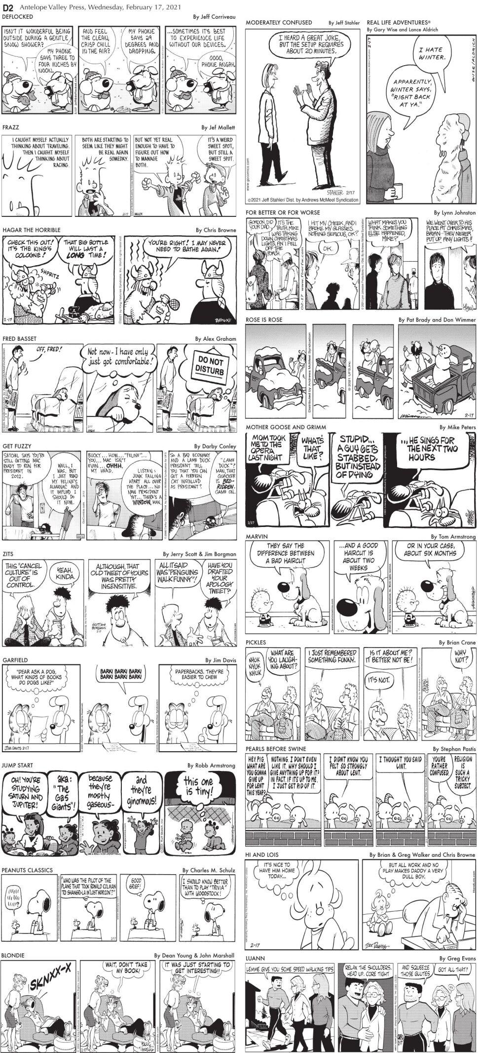 Comics, Feb. 17, 2021.