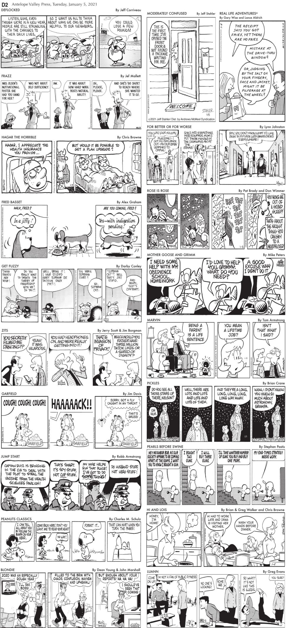 Comics, Jan. 5, 2020