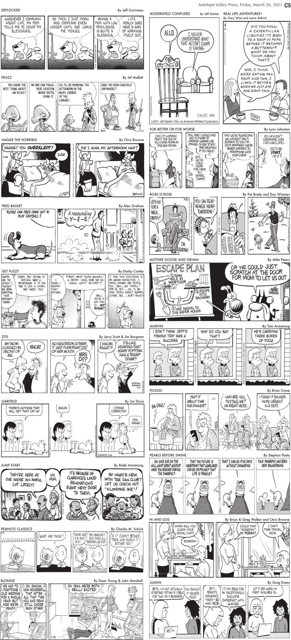 Comics, March 26, 2021