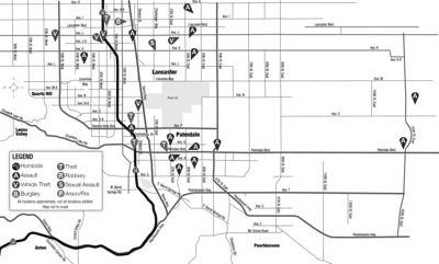 Crime map, May 10, 2021