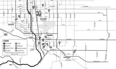 Crime map, Oct. 17, 2020