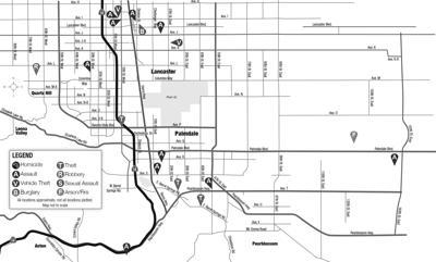 AV Crime Map, May 4, 2021