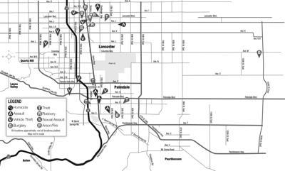 Crime map, May 2, 2021