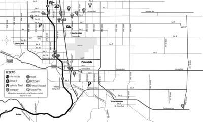 January 27, 2020, crime map