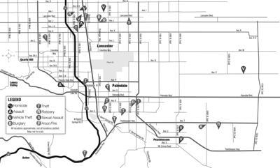 February 15, 2020, crime map