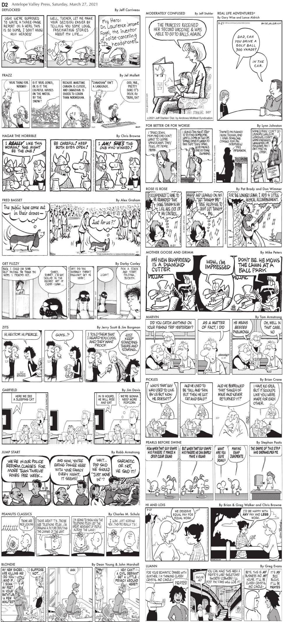 Comics, March 27, 2021