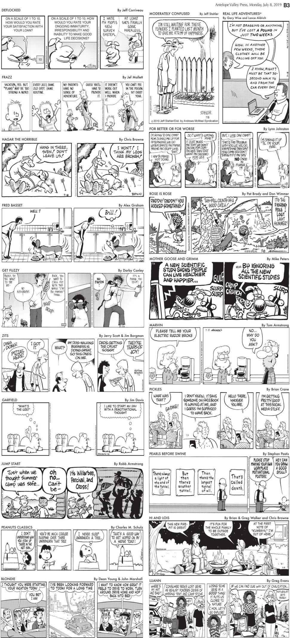 July 8, 2019, Comics
