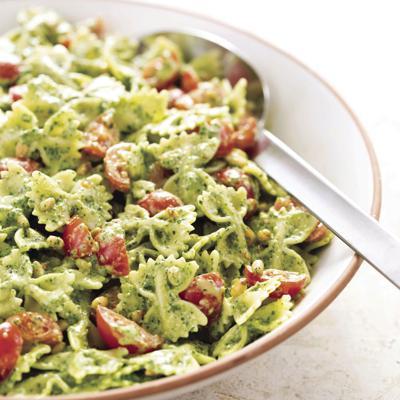 Food Column ATK Pasta Salad with Pesto