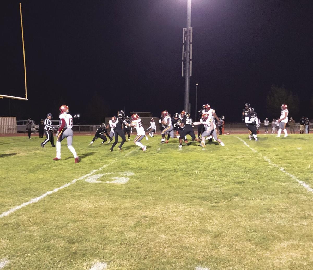 Highland sophomore running back Brandon Johnson