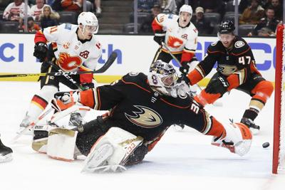 Flames Ducks Hockey