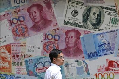 China Sinking Yuan
