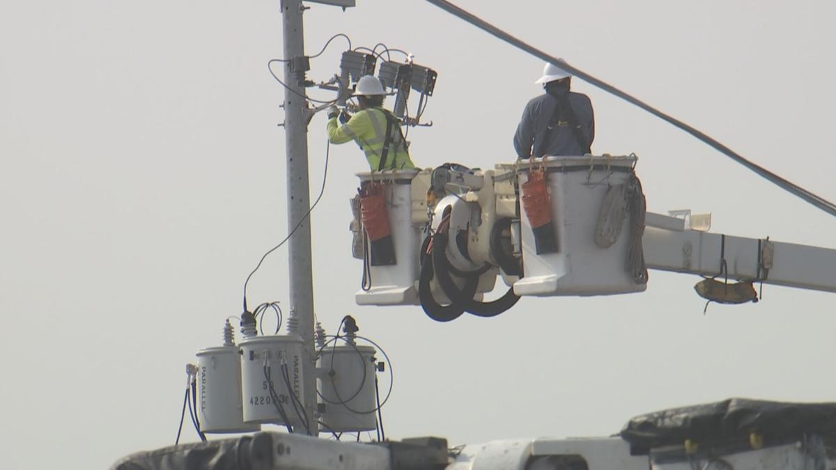 Power poles replaced in north Phoenix