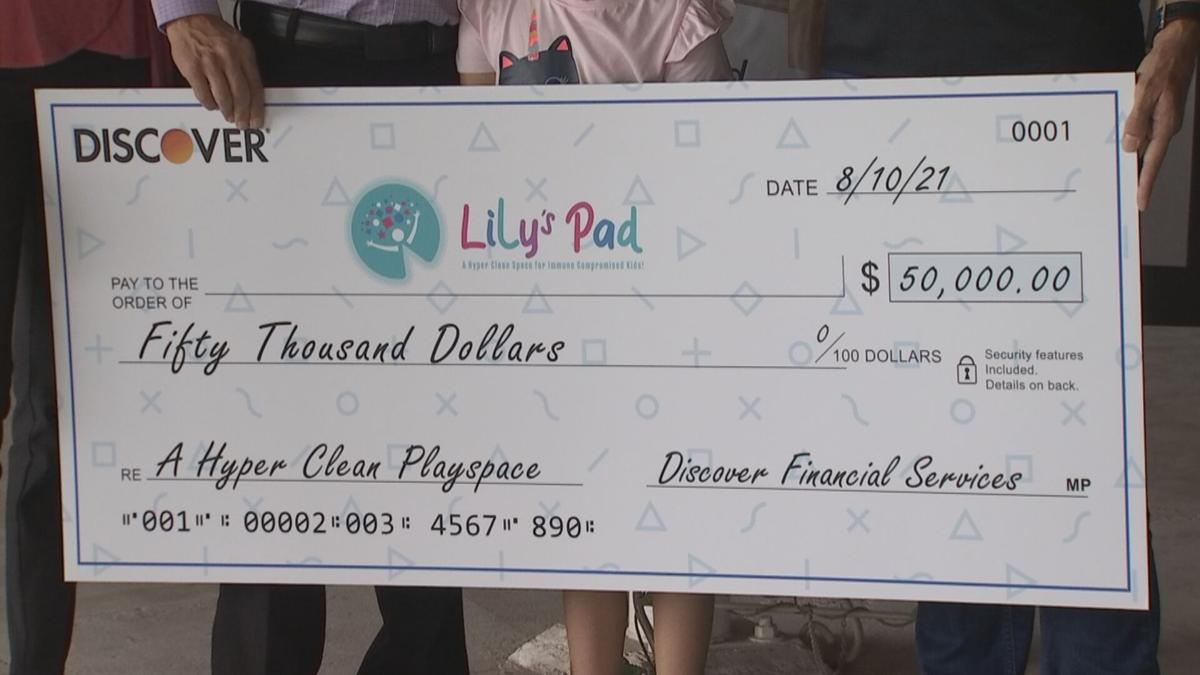 Lily's pad 50K donation