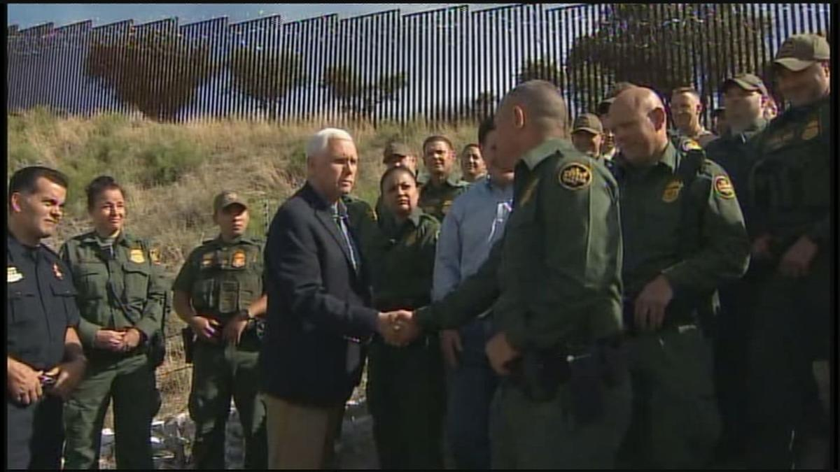 Pence at the border in Nogales
