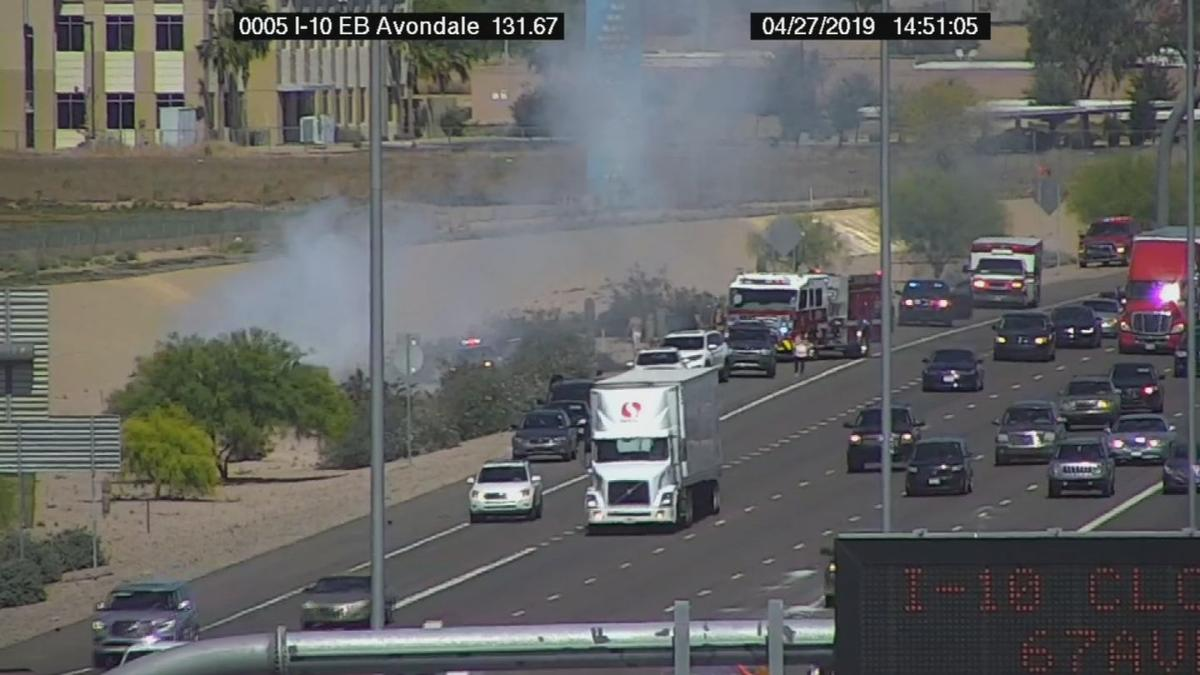 Multiple vehicles were involved in the crash on I-10 near 107th Avenue.
