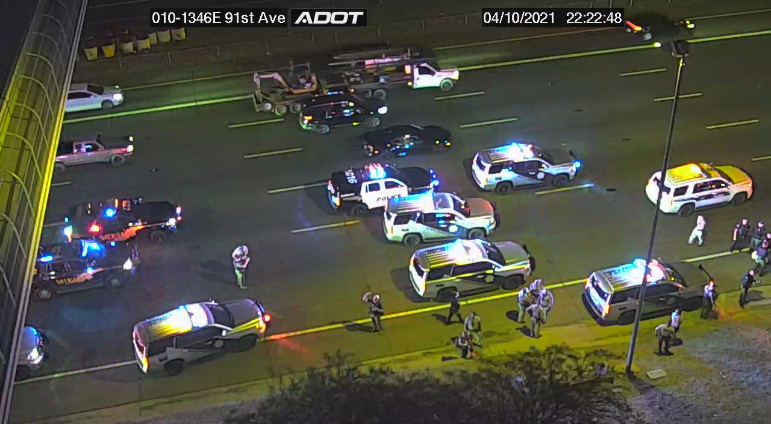 Police situation on the I-10 near 91st Avenue