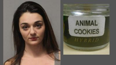 The jar was found with the child. The label indicates a special strain of Cannabis.